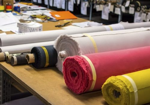 Colored Fabric Rolls