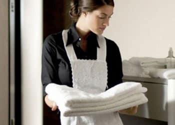 greige fabric aprons